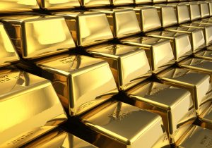 Row of Gold Bars
